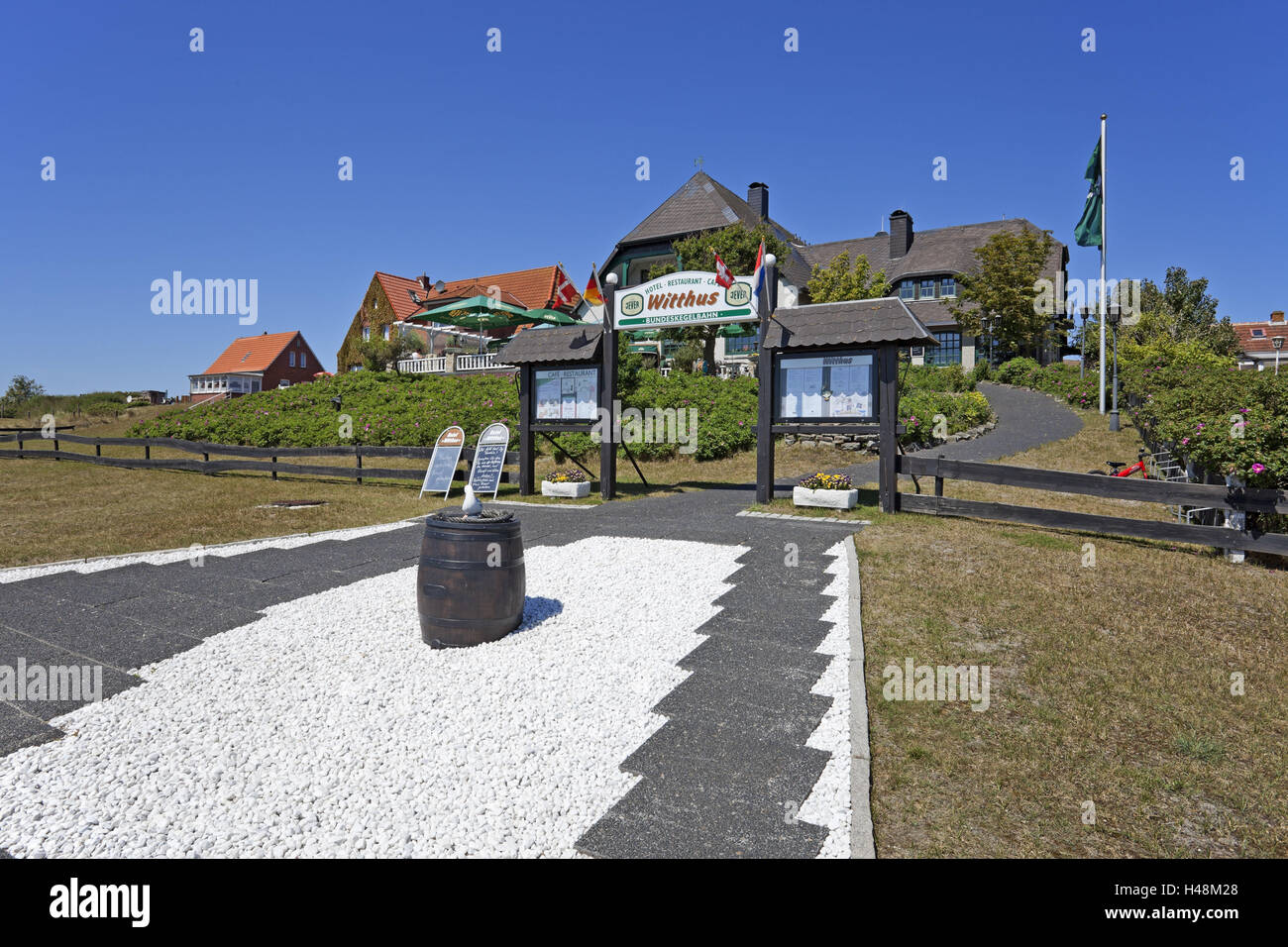 Local view, restaurant 'Witthus',Baltrum (island), Stock Photo