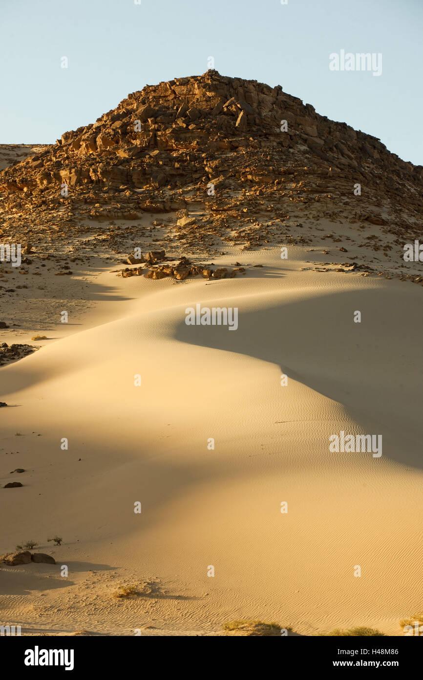Egypt, Sinai, desert in the street Milga to Nuweiba on the east coast, - Stock Image