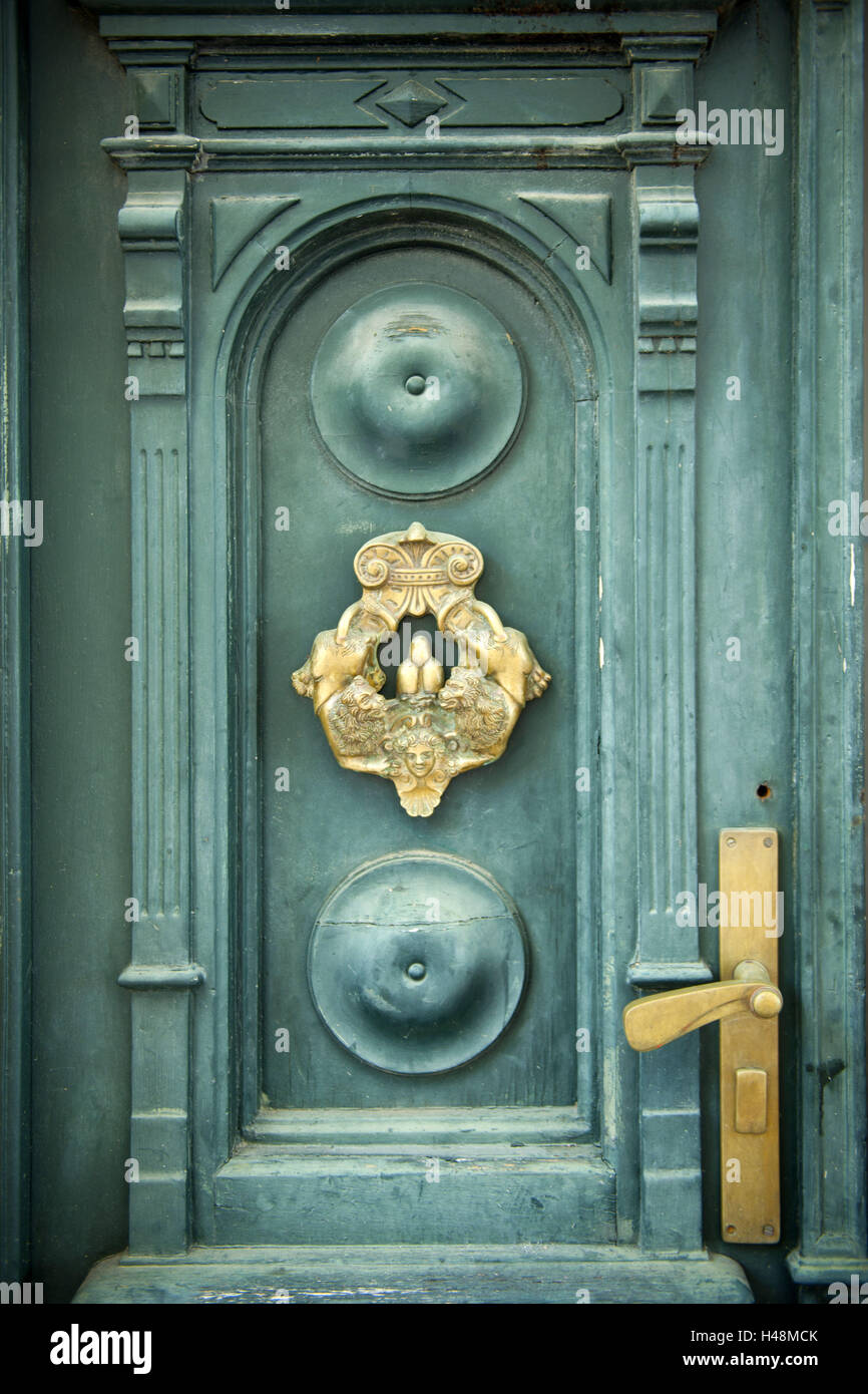 Croatia, Dalmatia, Vis, detail, of a front door, - Stock Image