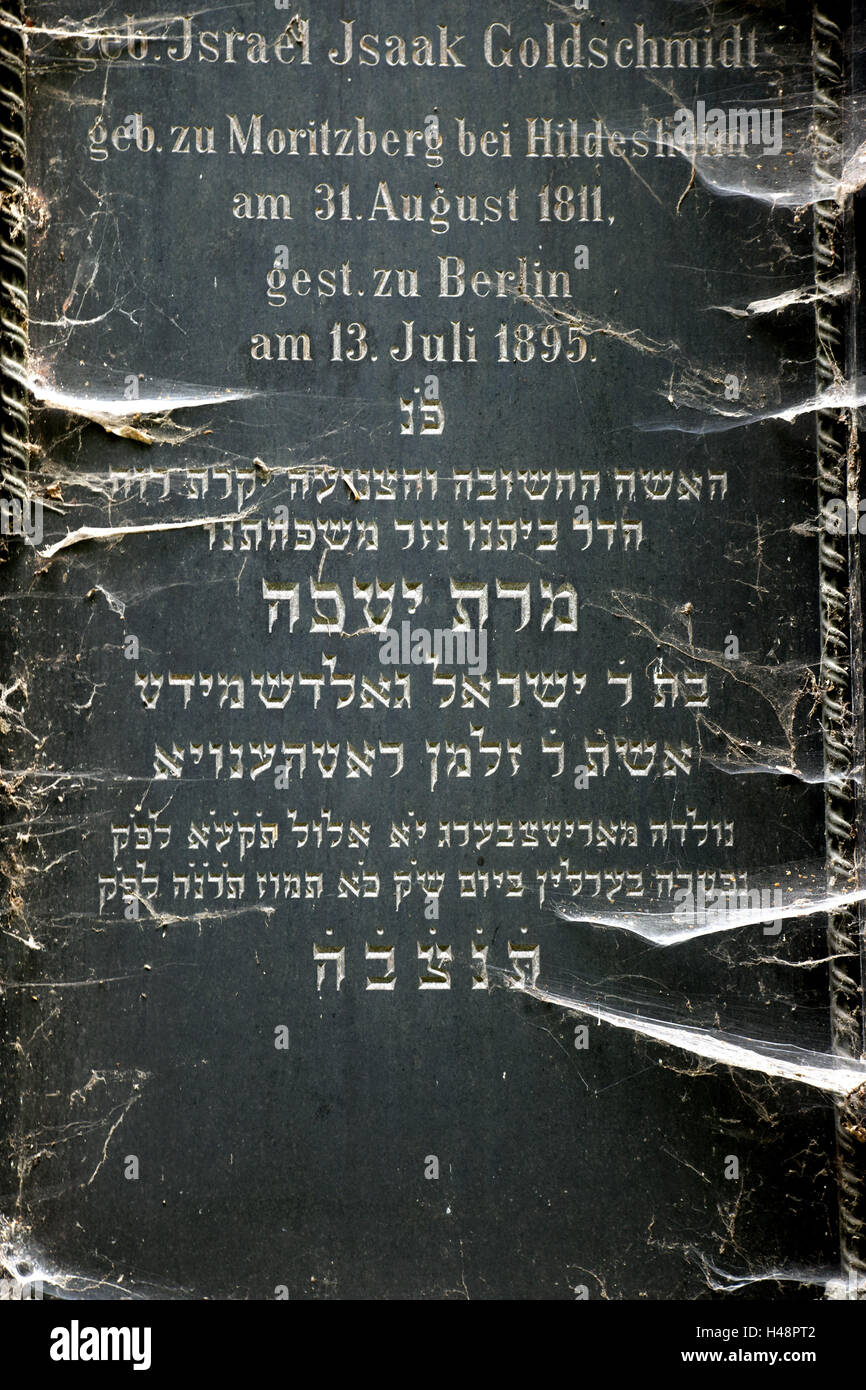 Historically, cemetery, gravestone, Judaism, - Stock Image
