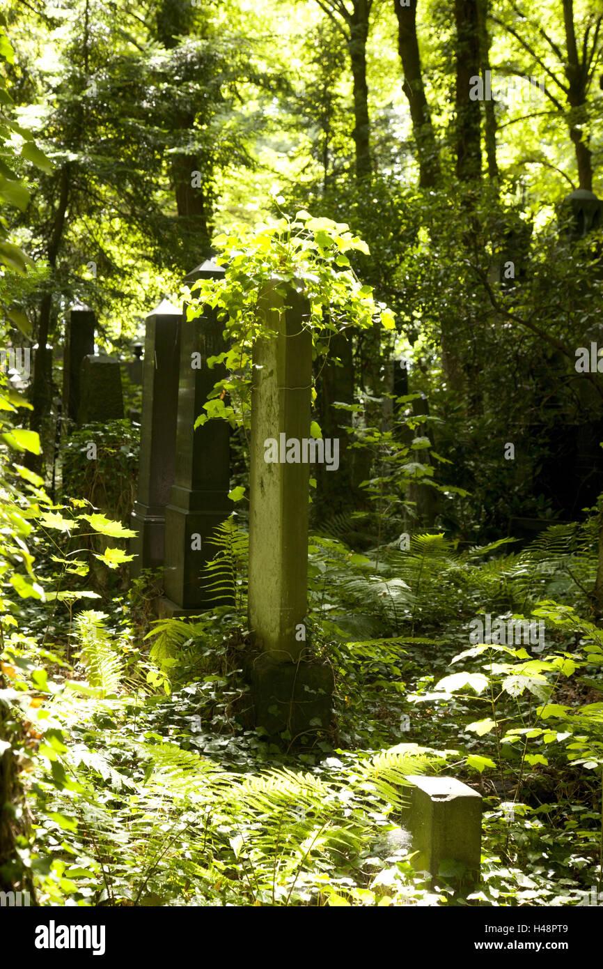 Historically, cemetery, gravestone, Judaism, - Stock Image