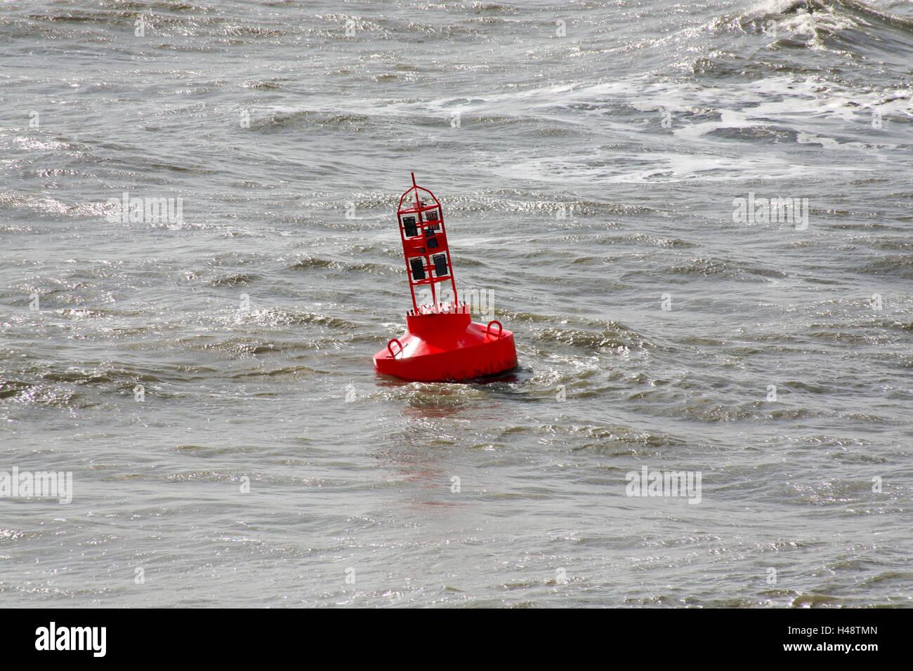 Sea, sea figure, buoy, - Stock Image