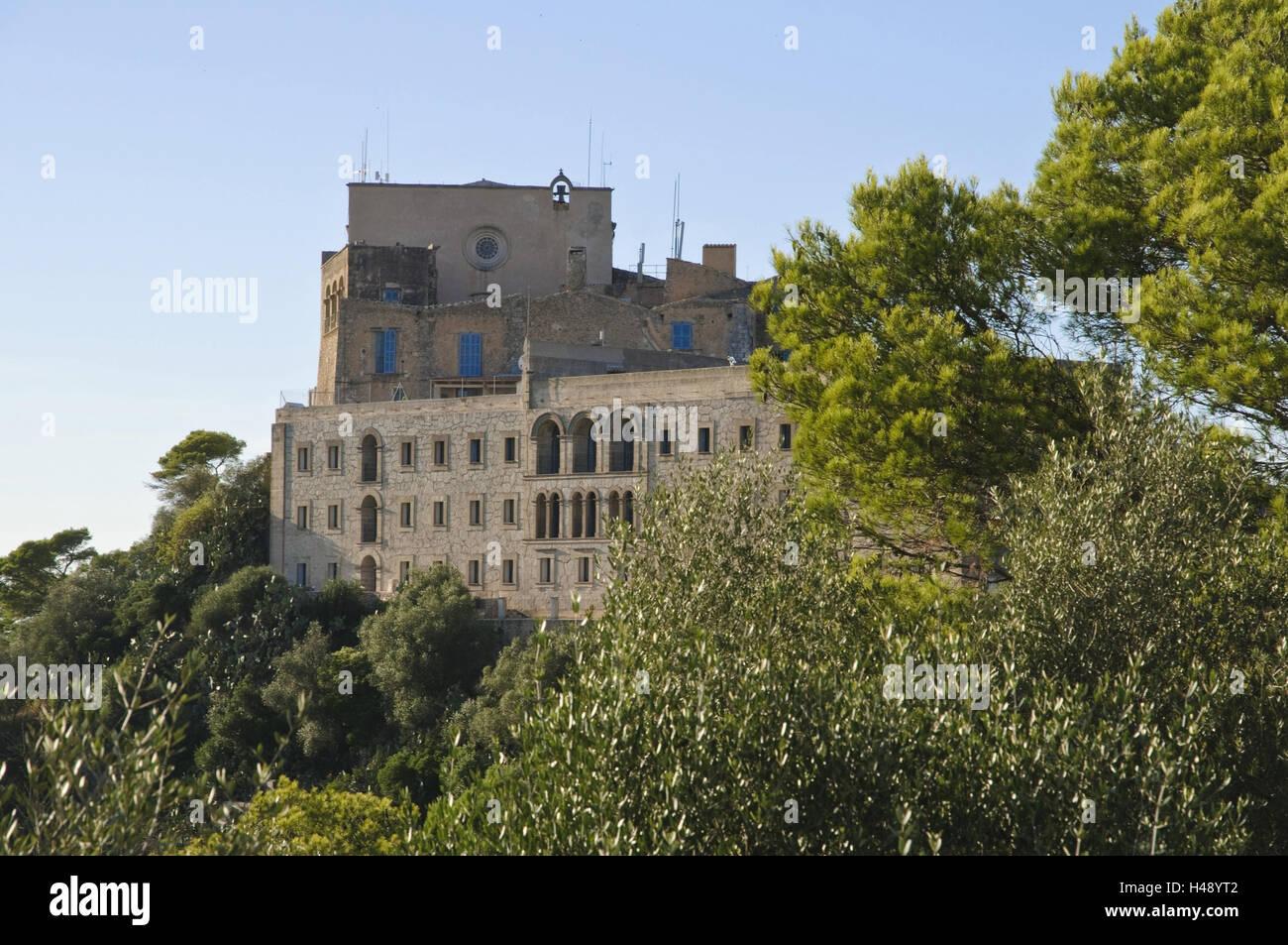 Cloister Sant Salvador, Majorca, Spain, Stock Photo