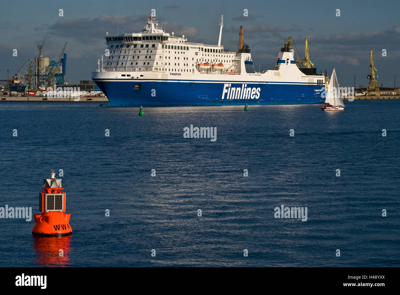Germany, Mecklenburg-Western Pomerania, Rostock-Warnemünde, ferry, - Stock Image