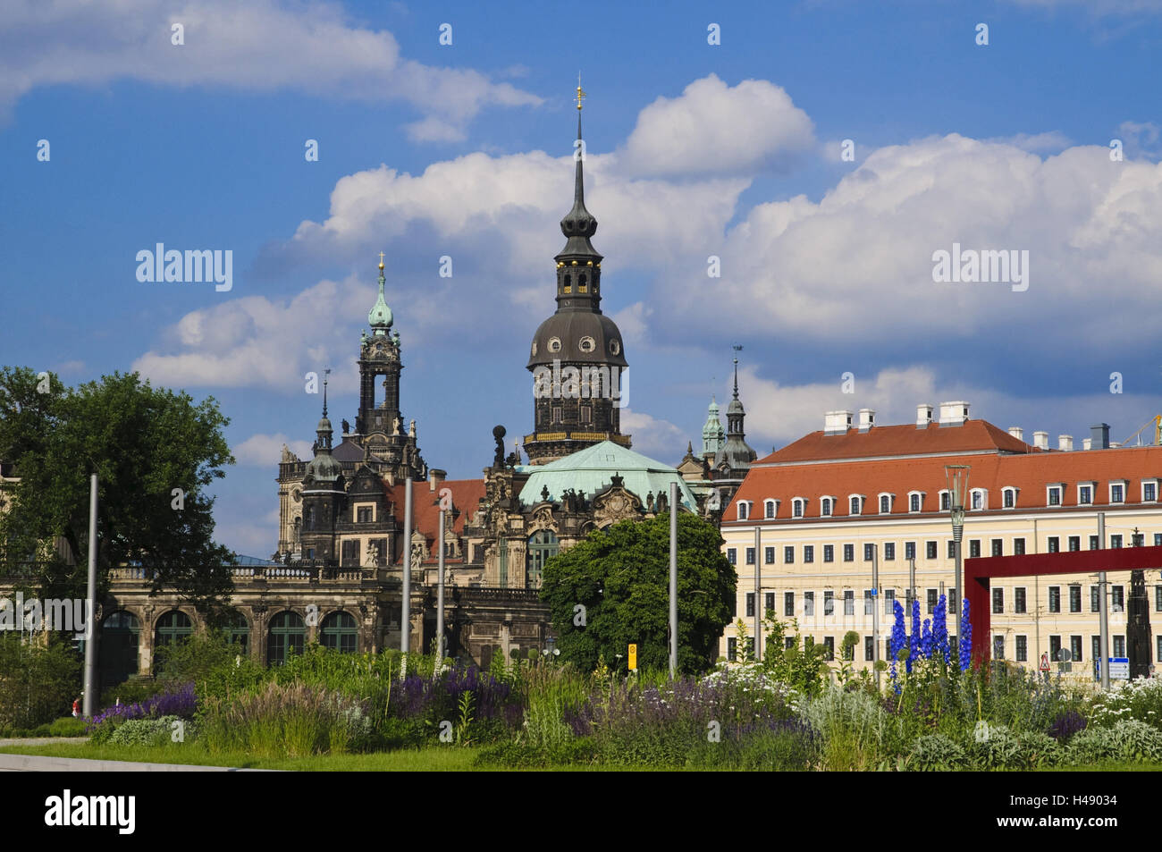 Postal space with kennel and pouch mountain palace, Dresden, Saxony, Germany, - Stock Image