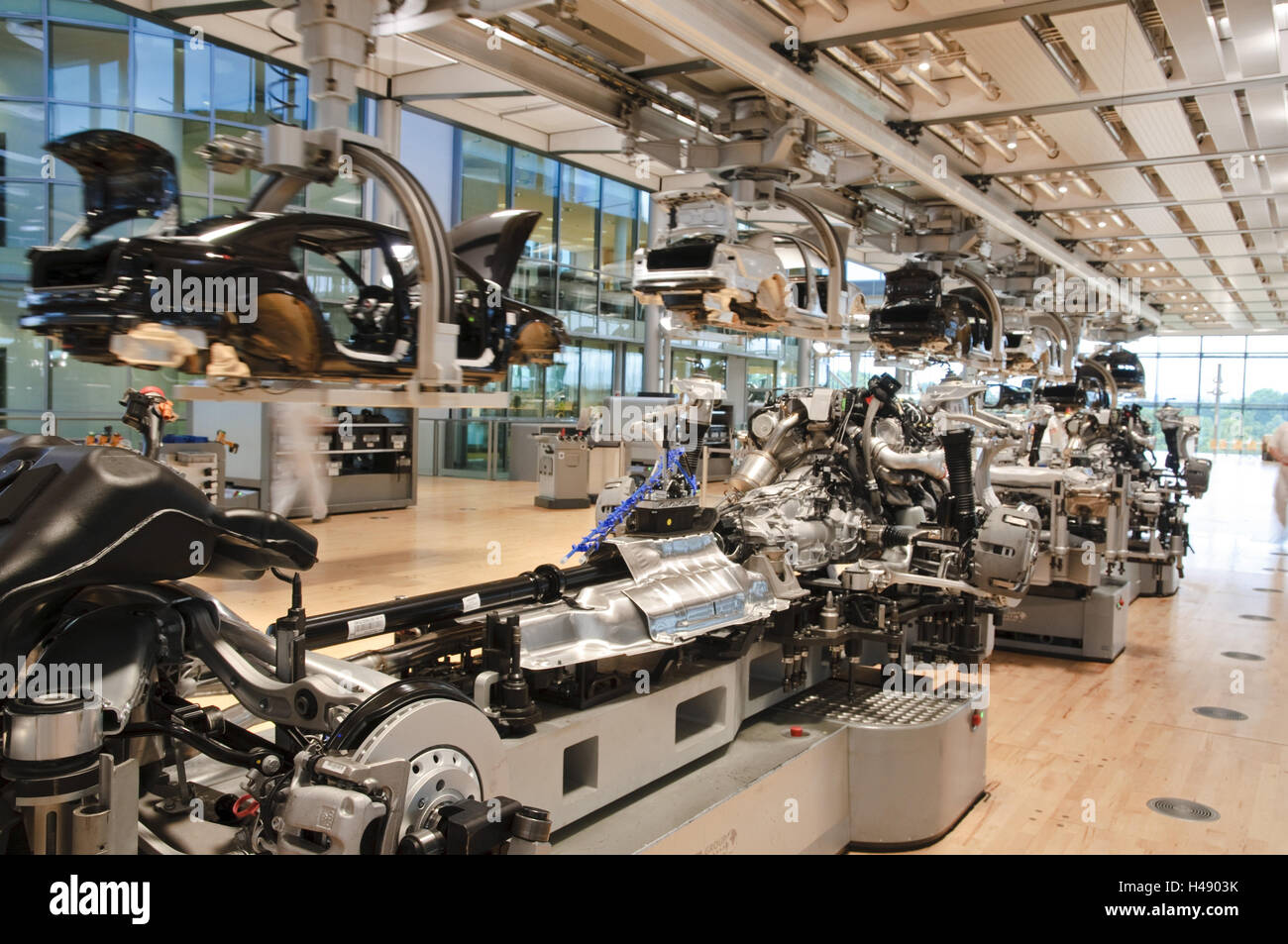 VW manufacture, vehicle production, Dresden, Saxon, Germany, - Stock Image