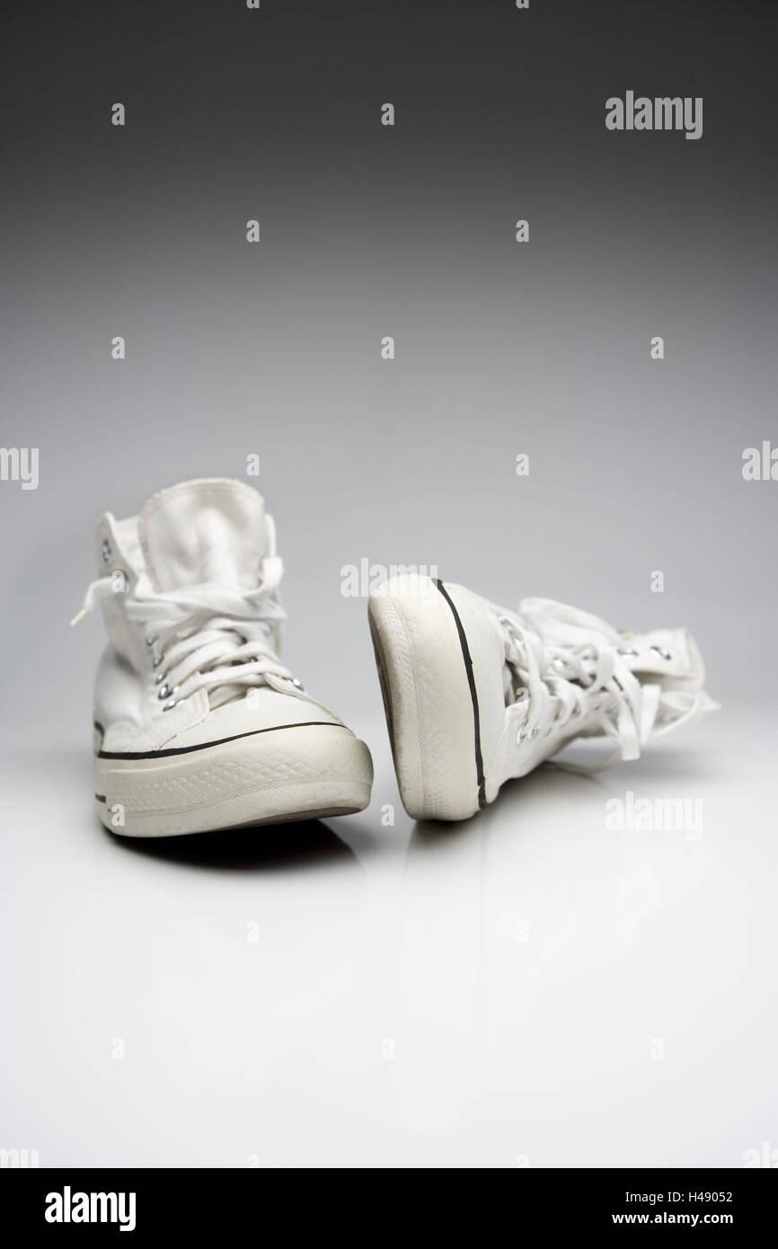 sneakers, Chucks, white, Stock Photo