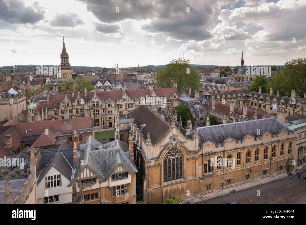 Brasenose College and Oxford skyline, Oxfordshire, England. - Stock Image