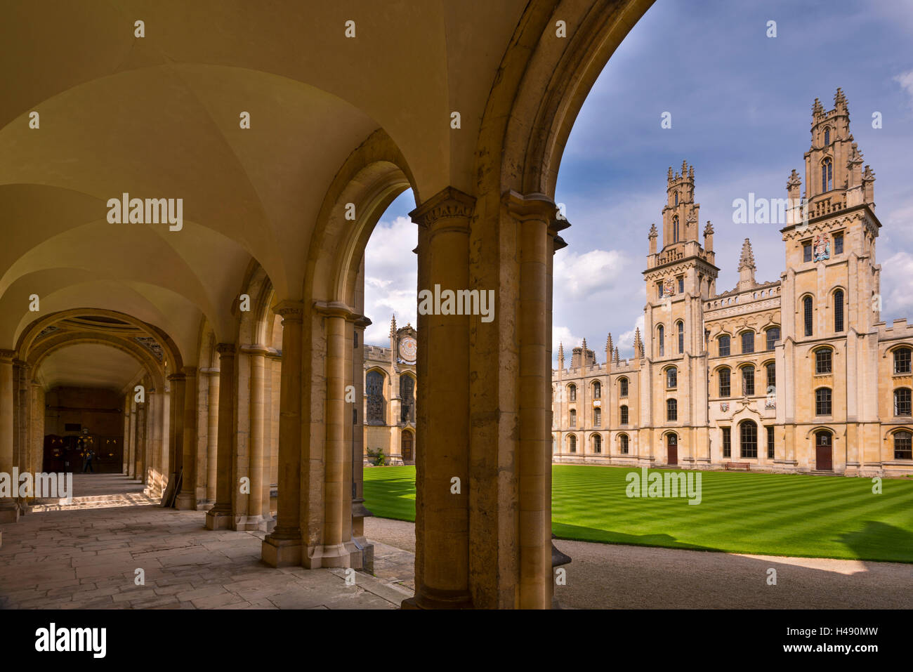 Historic All Souls College in Oxford, Oxfordshire, England. - Stock Image