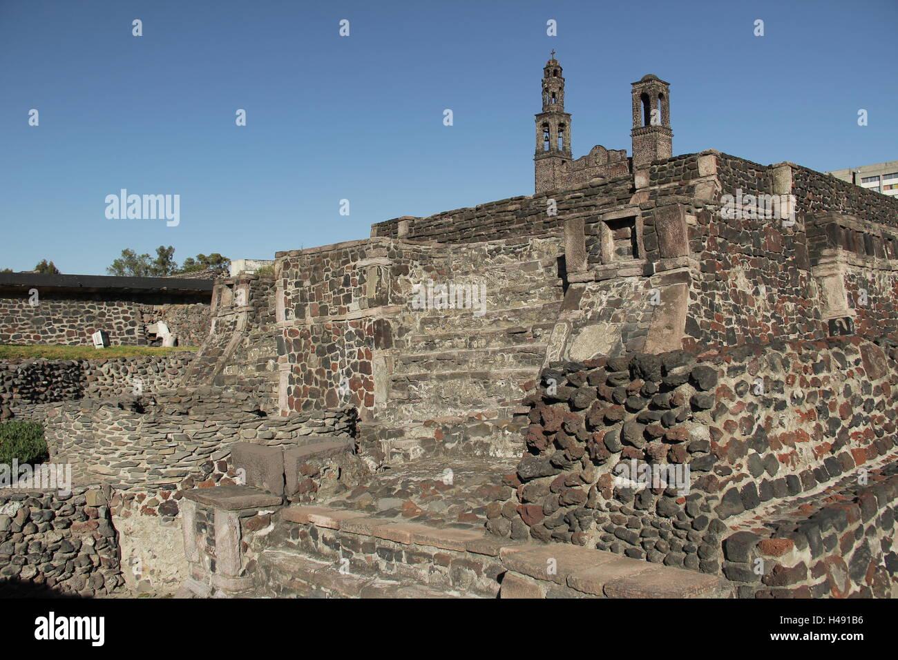 Tlatelolco. Plaza de tres culturas. - Stock Image