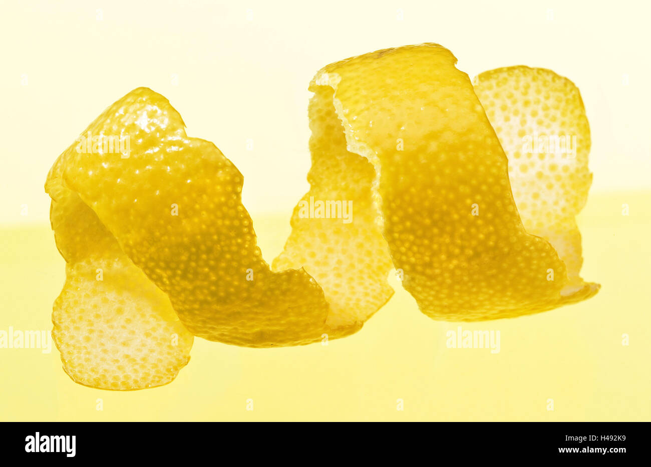 Lemon zest, fruits, peeled, studio, Stilllife, Food, - Stock Image