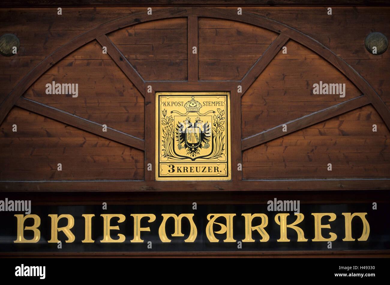 Austria, Vienna, meat market, philatelic business, - Stock Image