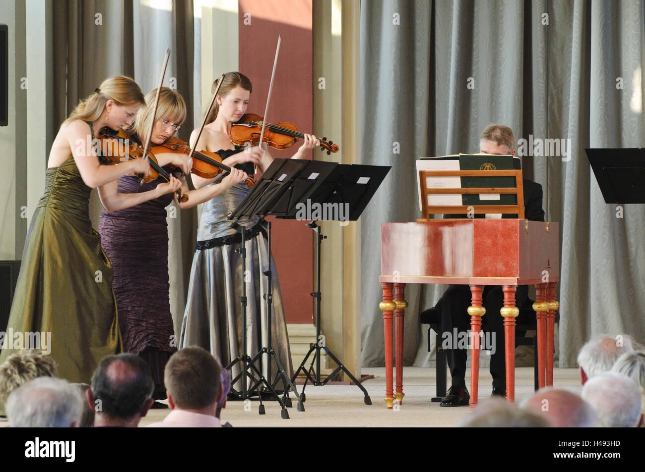 Dresden kennel, kennel concerts, concert French pavilion, Dresden, Saxon, Germany, - Stock Image