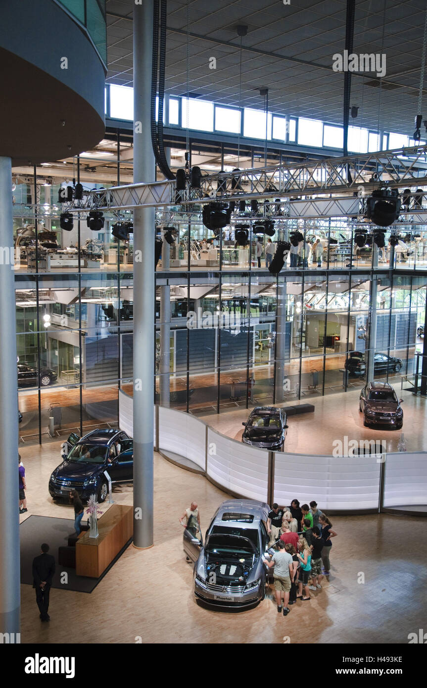 VW manufacture, exhibition hall, Dresden, Saxon, Germany, - Stock Image