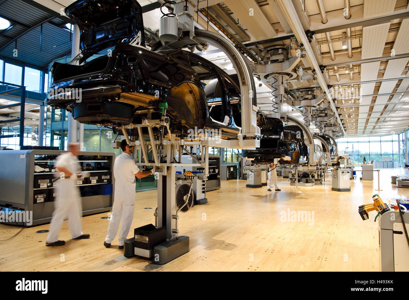 VW factory, vehicle production, Dresden, Saxony, Germany, - Stock Image