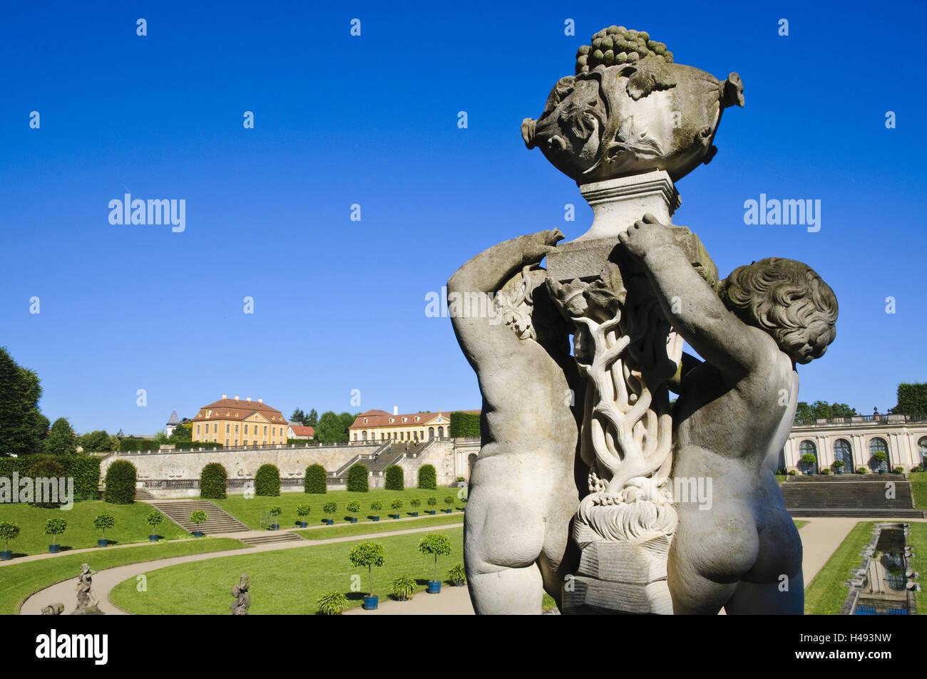 Baroque garden Großsedlitz, Saxony, Germany, - Stock Image