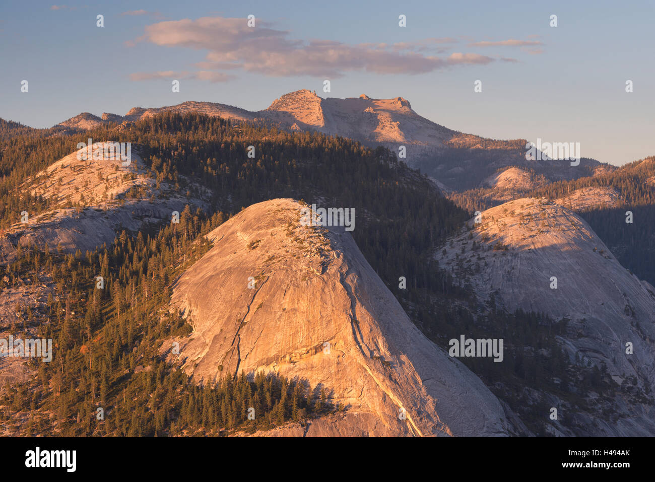 High Sierra mountain scenery from Glacier Point, Yosemite National Park, California, USA. Autumn (October) 2013. - Stock Image