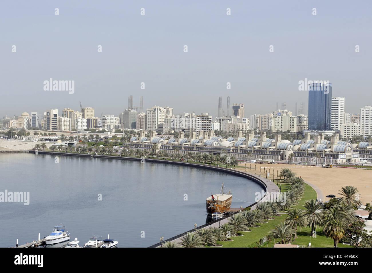 Old Souk, blue Souk, traditional shopping centre, Emirate of Sharjah, United Arab Emirates, Arabian Peninsula, the - Stock Image