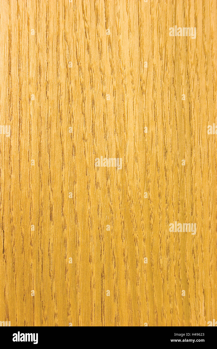 Bright Oak Texture, detailed vertical background pattern closeup, textured grained veneer copy space - Stock Image