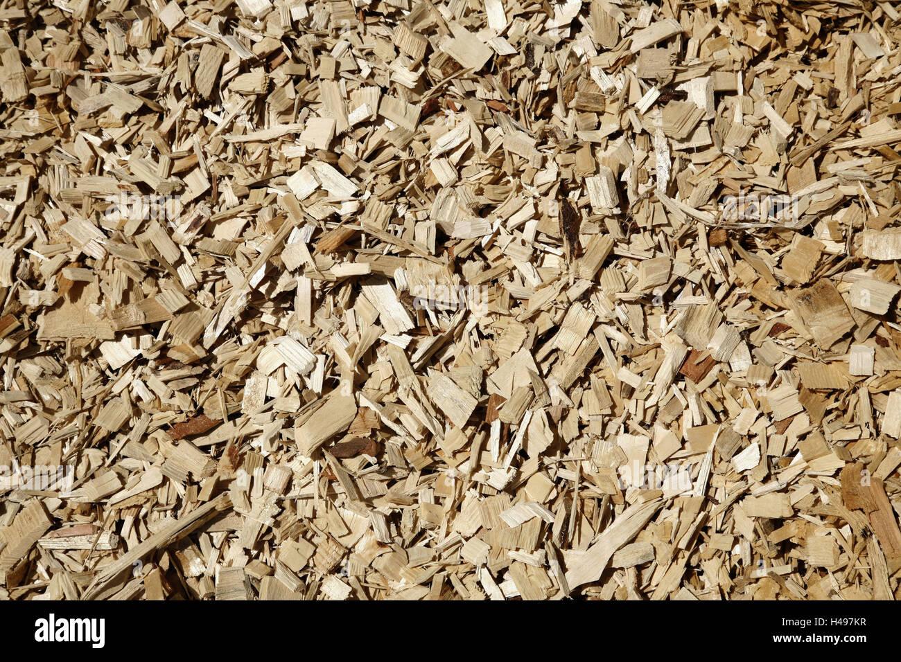 Hack cutlet, medium close-up, wooden, heating, wooden heating, hack cutlet heating, efficiency, environment, environmental - Stock Image