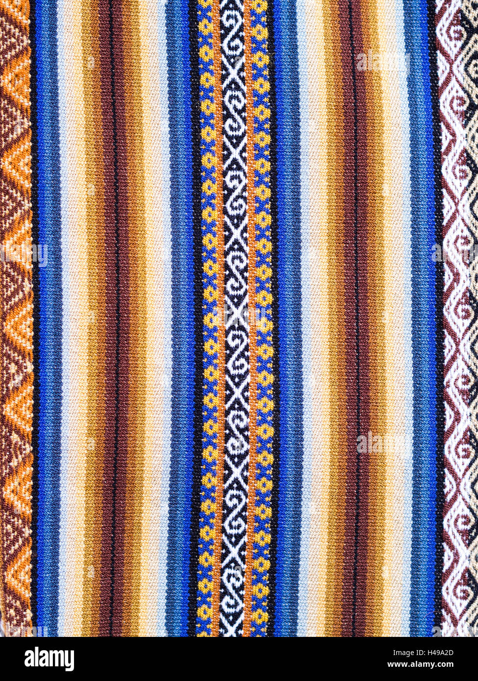 Typical Ethiopian hand-woven colorful fabric Stock Photo: 123136677