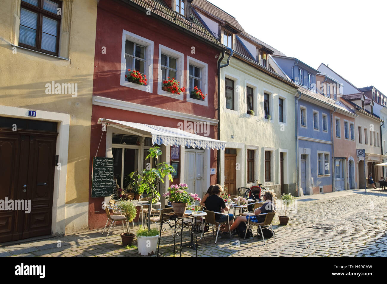 Schmiedestrasse, Old Town, Pirna, Saxon, Germany, - Stock Image