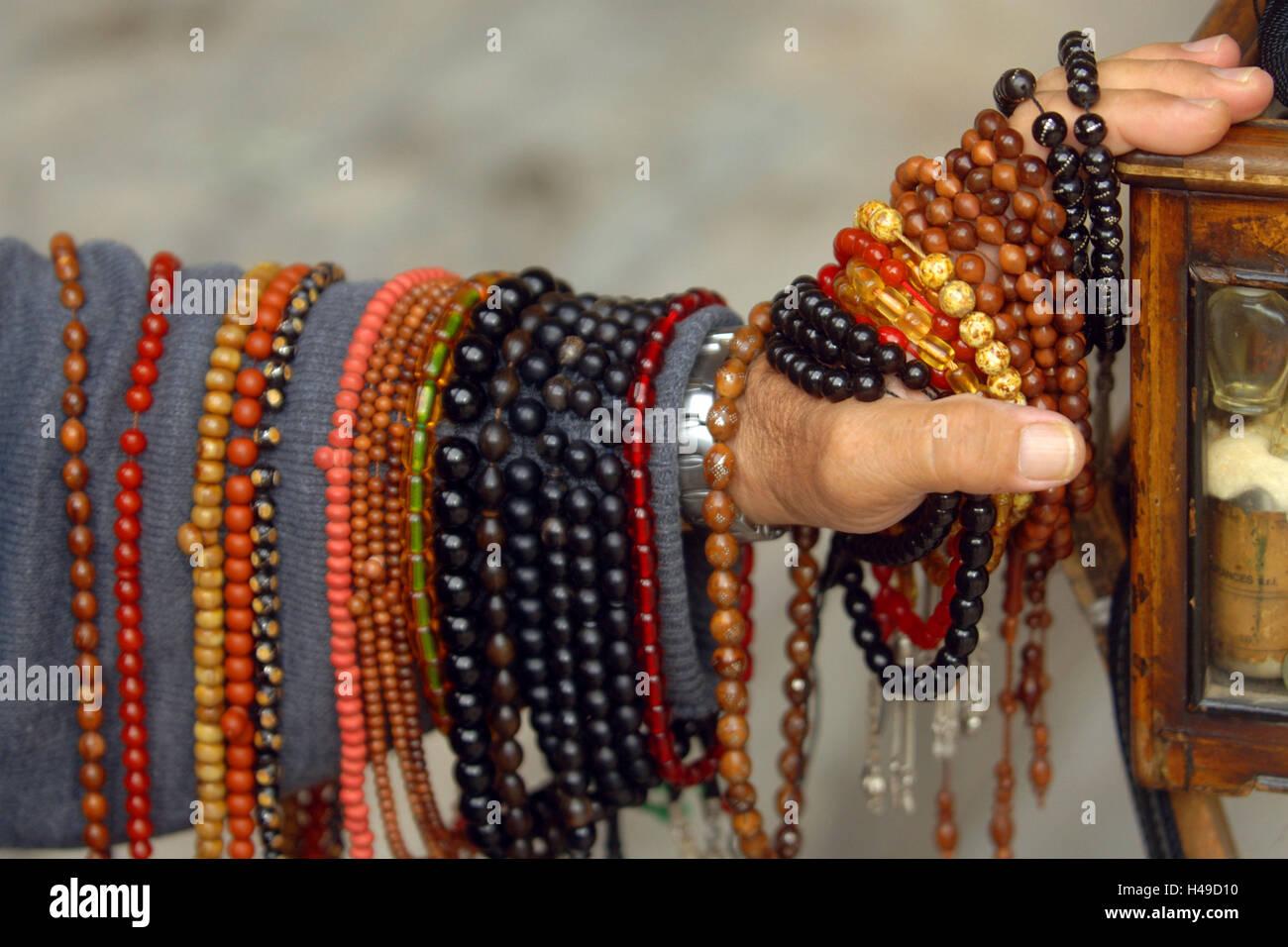 Turkey, Istanbul, Beyazit mosque, devotional objects dealer, - Stock Image