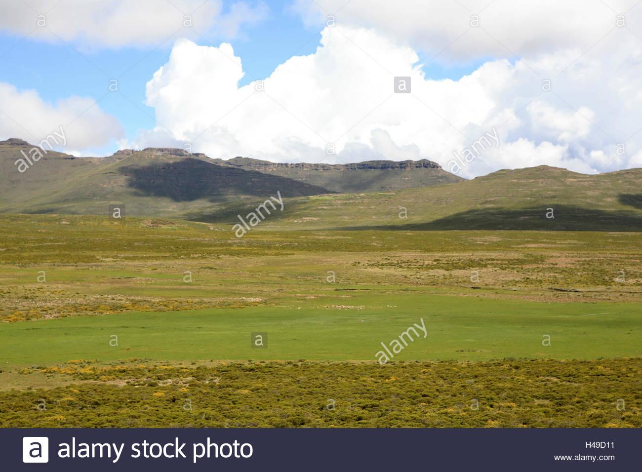 Africa, southern Africa, Lesotho, early Basutoland, province of Mokhotlong, Drakensberge, - Stock Image