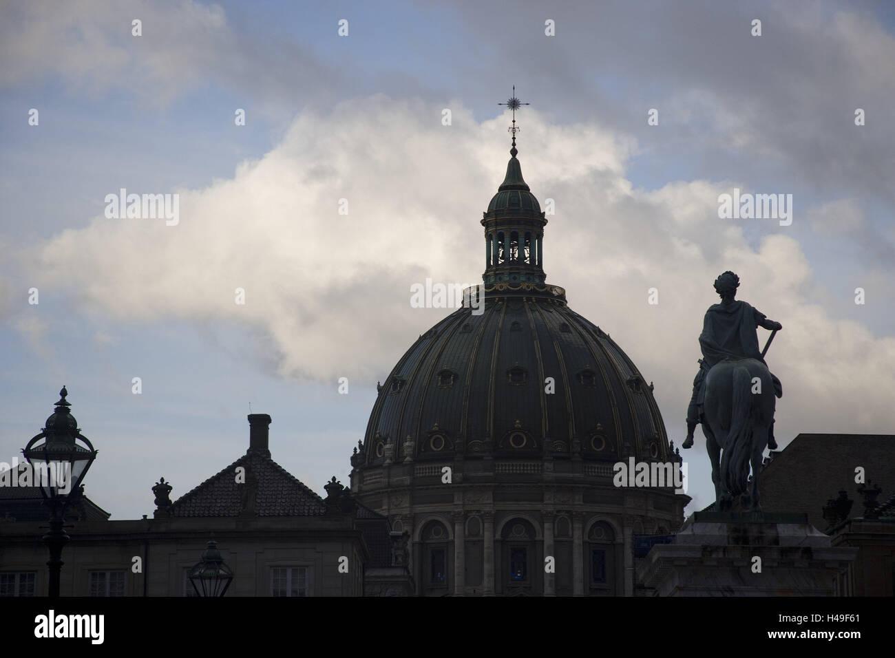 Denmark, Copenhagen, Frederikskirken, detail, capital, church, marble church, structure, dome church, architecture, - Stock Image
