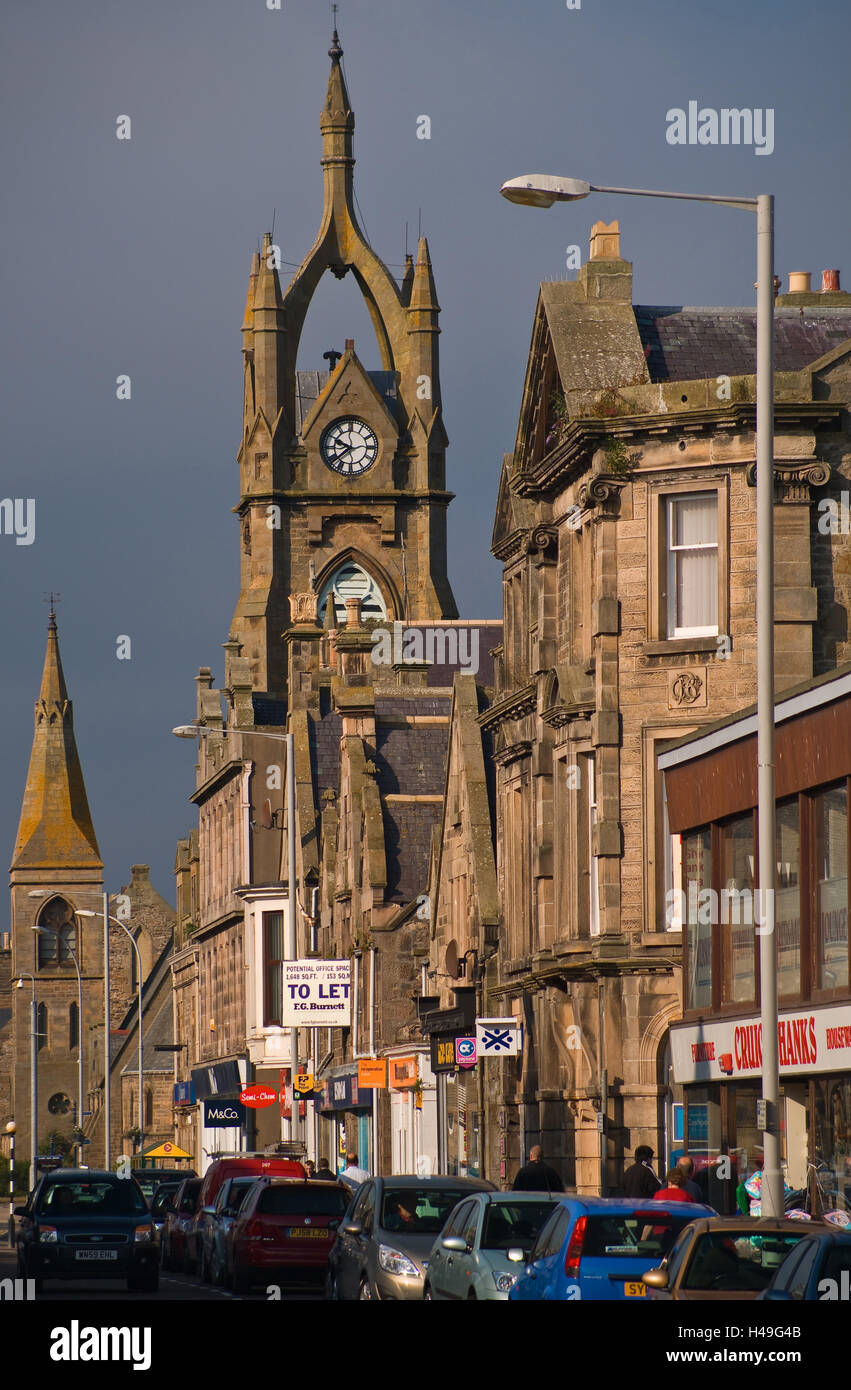 Scotland, Buckie, townscape, church, outside, - Stock Image