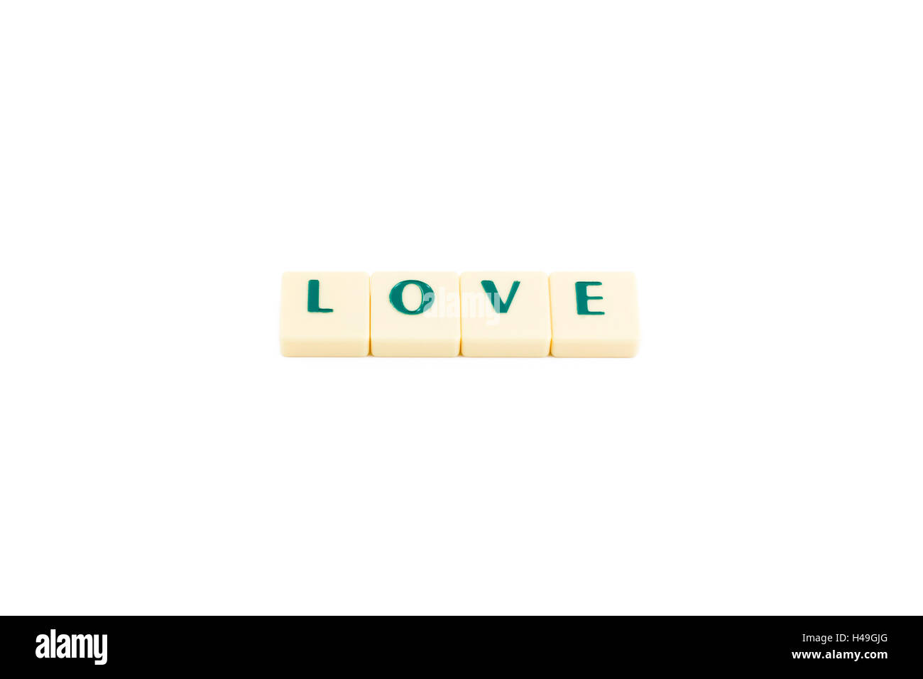 Word love on white background - Stock Image