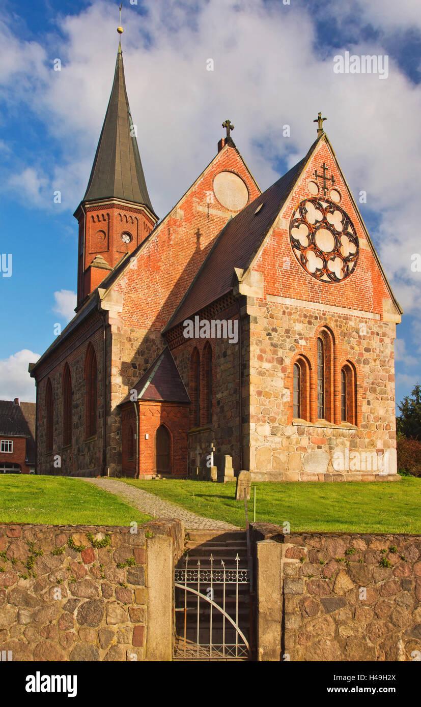 Breitenfelder church, Germany, Schleswig-Holstein, - Stock Image