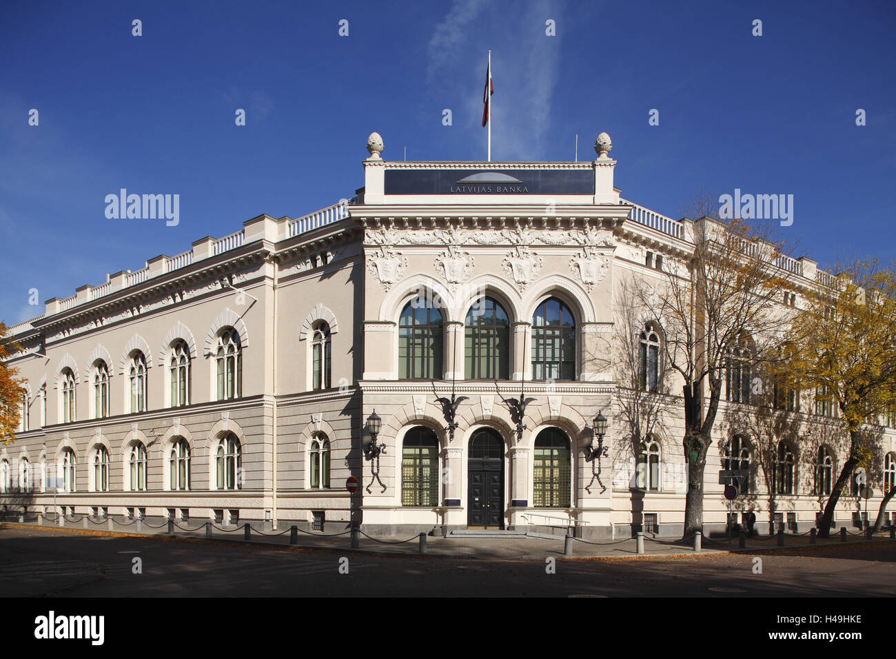 Latvia, Riga, Latvian bank, - Stock Image