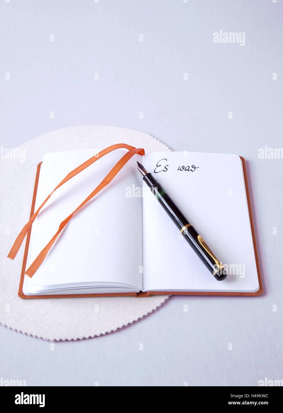 Diary, memories, secrets, - Stock Image