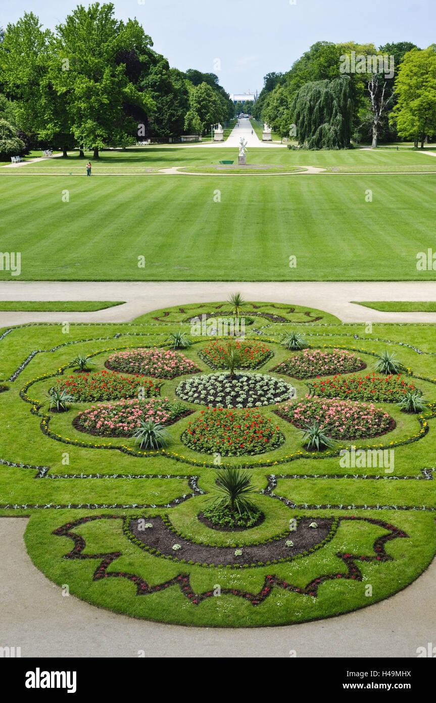 Dresden Großer Garten Baroque Garden At The Palace Saxony Stock