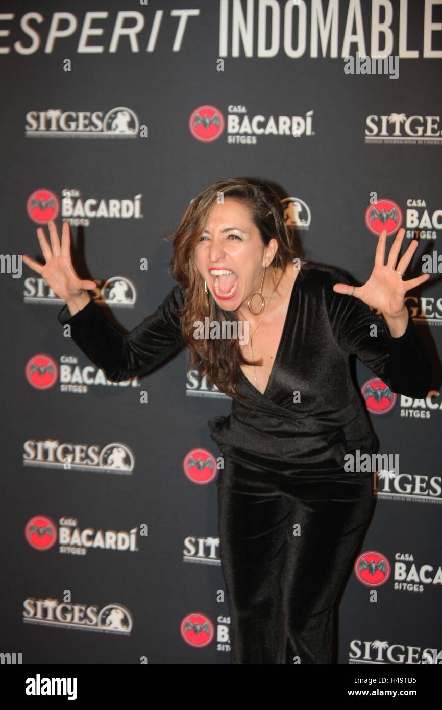 Anna Bertran Premi Bacardi Sitges a l'Esperit Indomable.  Photocall in Sitges Spain Thursday, Oct. 13, 2016, - Stock Image