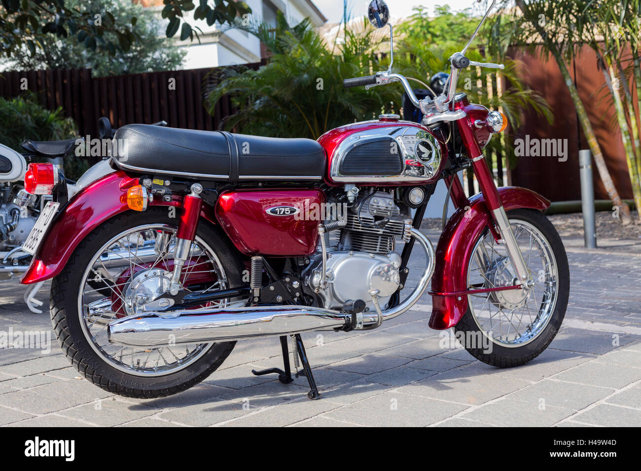 Honda Motorbike Not People Harley Stock Photos 1960s 50cc Bike 175cc From 1974 Image