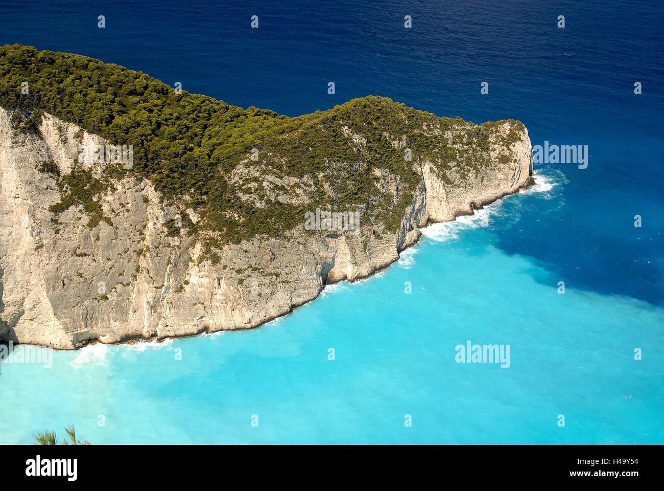 Navagio beach, Zakinthos, Greece Stock Photo