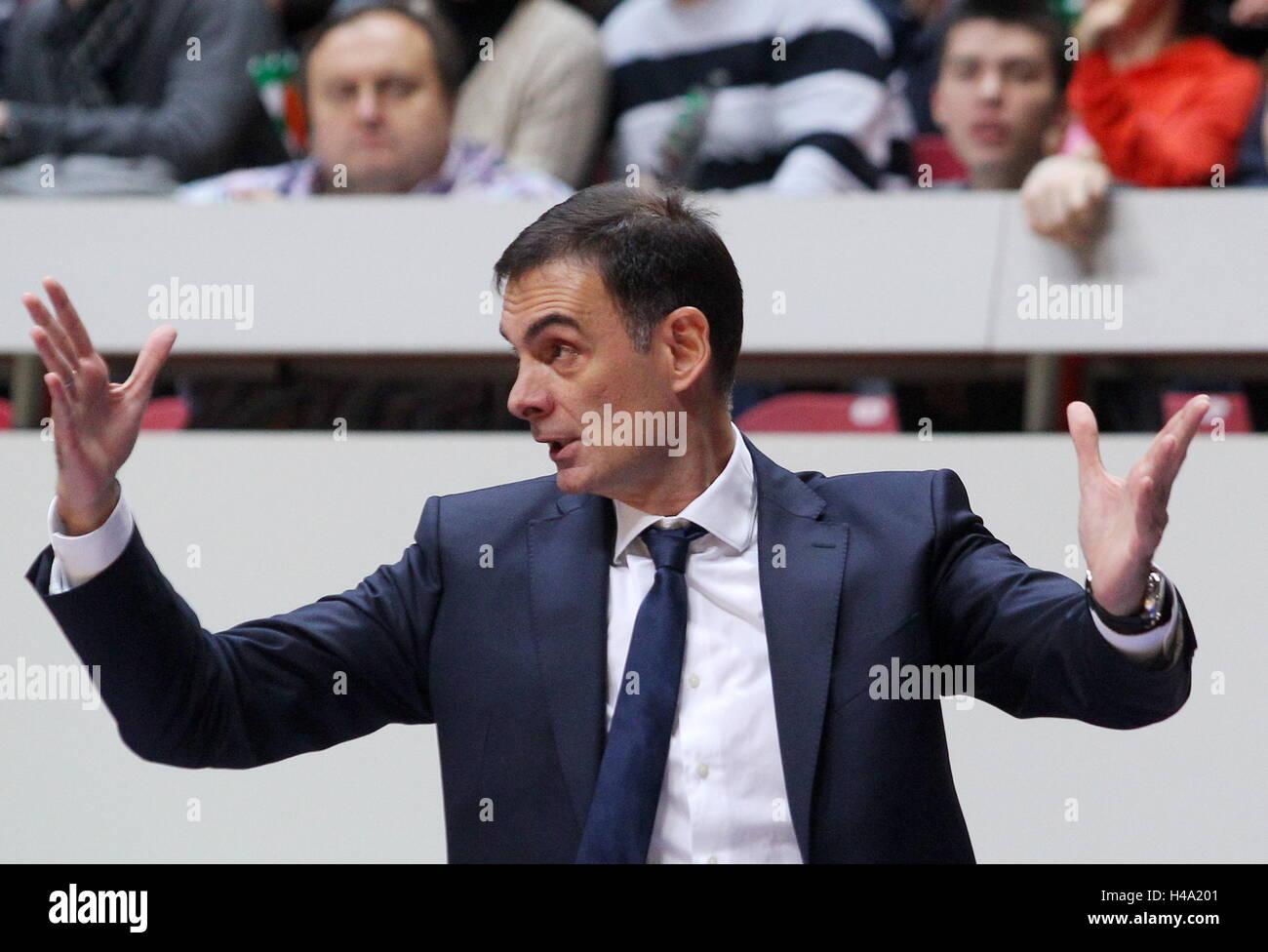 Kazan, Russia. 14th Oct, 2016. Barcelona's head coach Georgios Bartzokas in the 2016-17 Regular Season Euroleague - Stock Image