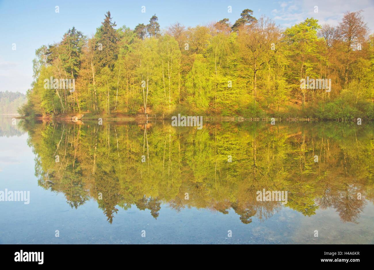 Garrensee, water reflexion, - Stock Image