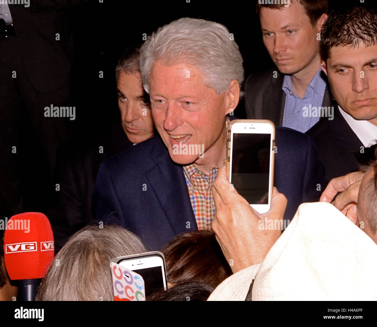 Former President Bill Clinton campaigns for Presidential candidate Hillary Clinton ahead of the June 7th California - Stock Image
