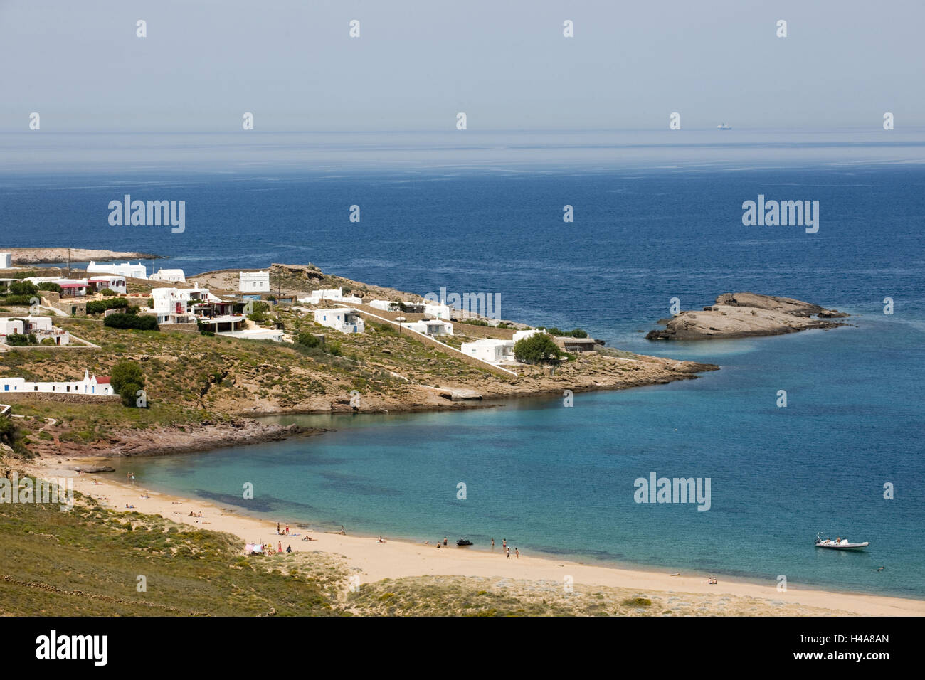 Greece, the Cyclades, Mykonos, agio Sostis, even more disorganised beach, Stock Photo