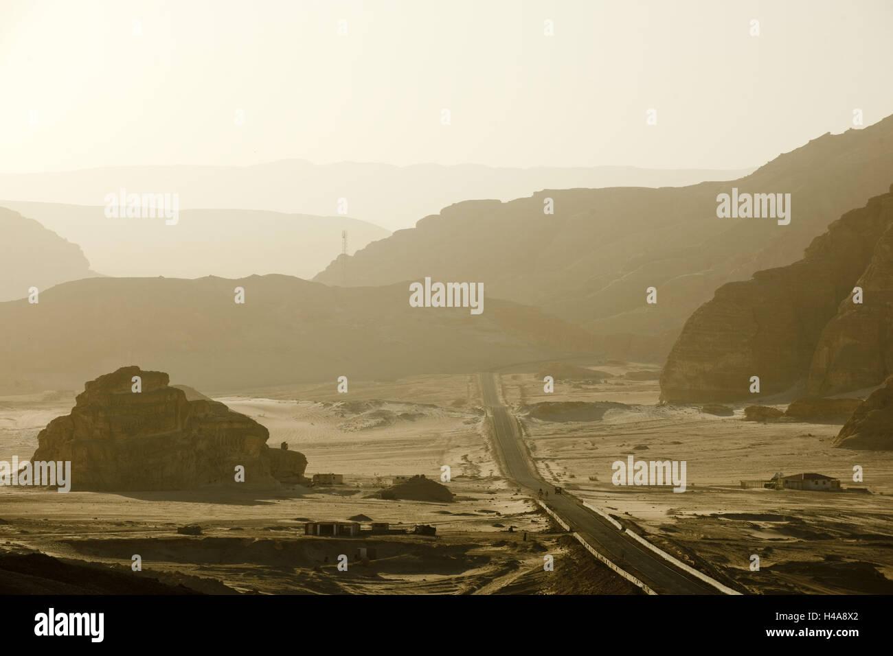 Egypt, Sinai, Wüstenstrasse Milga to Nuweiba on the east coast, Stock Photo