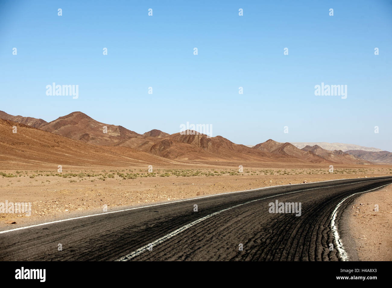 Egypt, Sinai, street Milga to Nuweiba on the east coast, Stock Photo