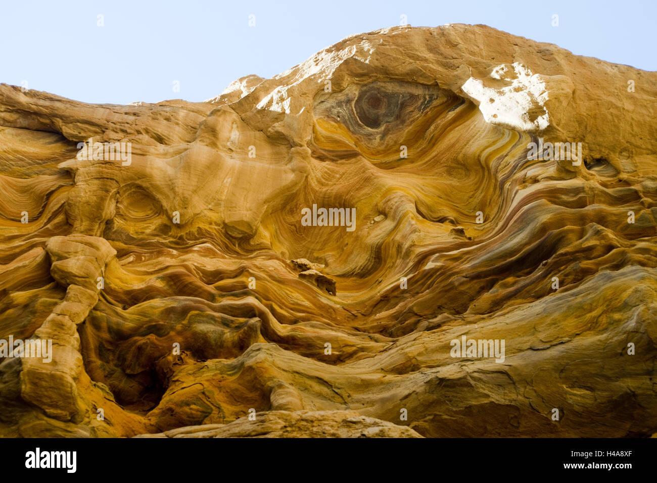Egypt, Sinai, Nuweiba on the east coast, Coloured canyon, Stock Photo