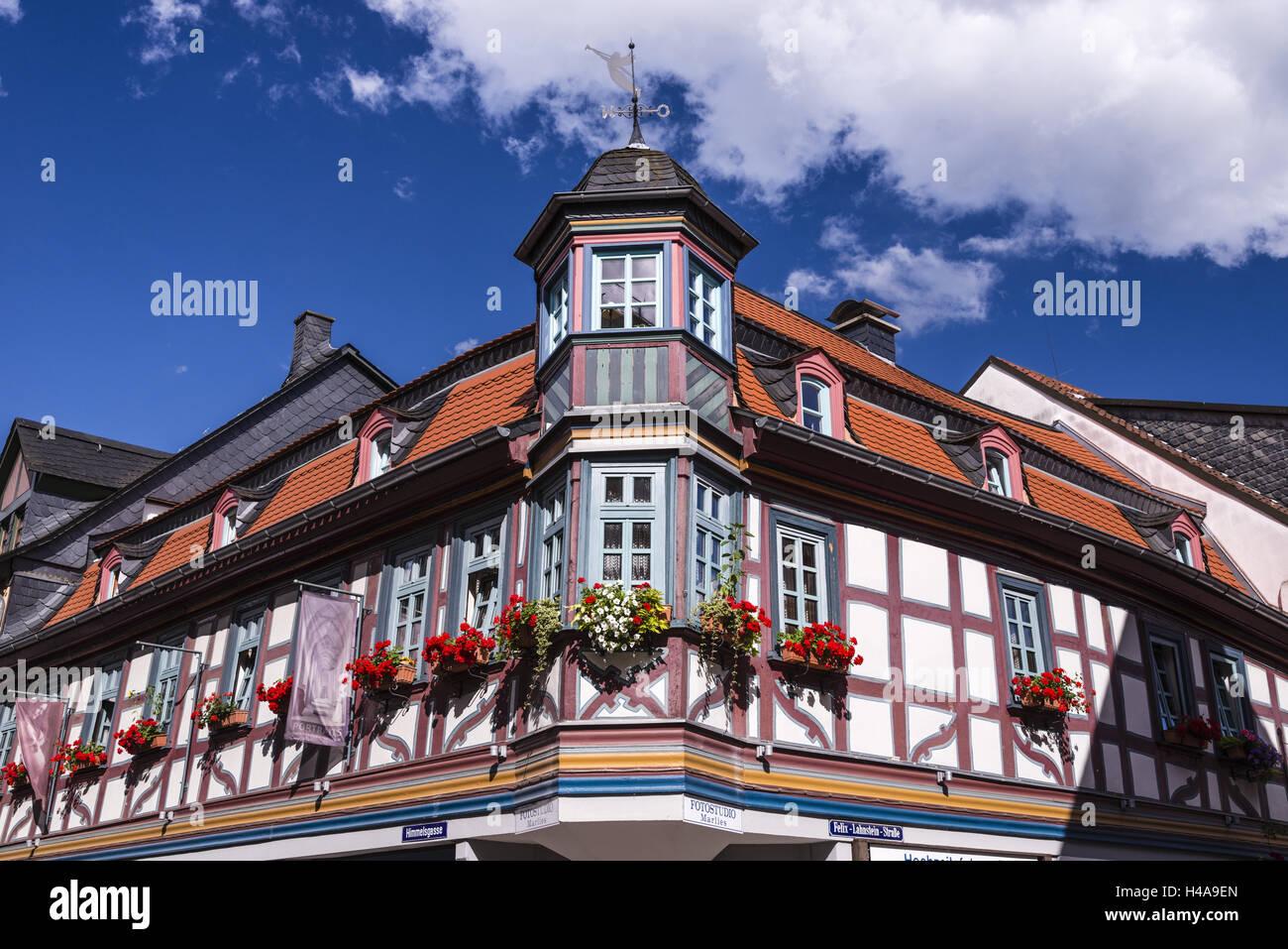 Germany Taunus German Timber Frame Road Stock Photos & Germany ...