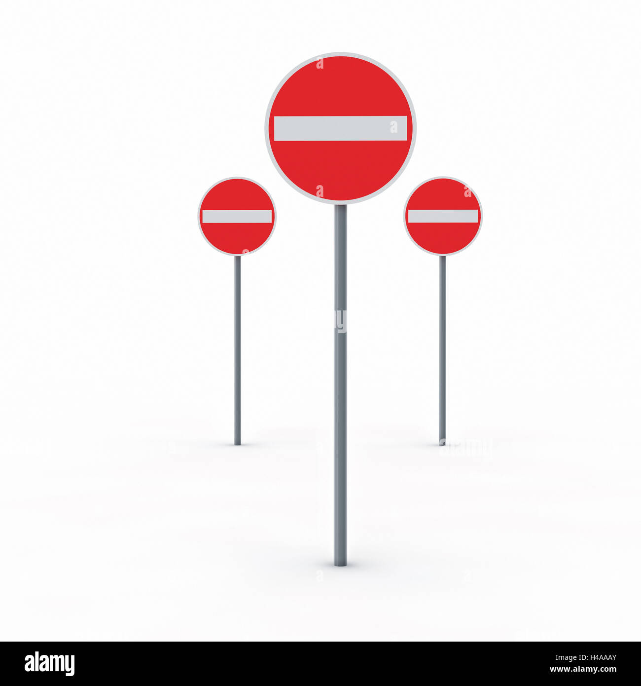 Signs no entry, - Stock Image