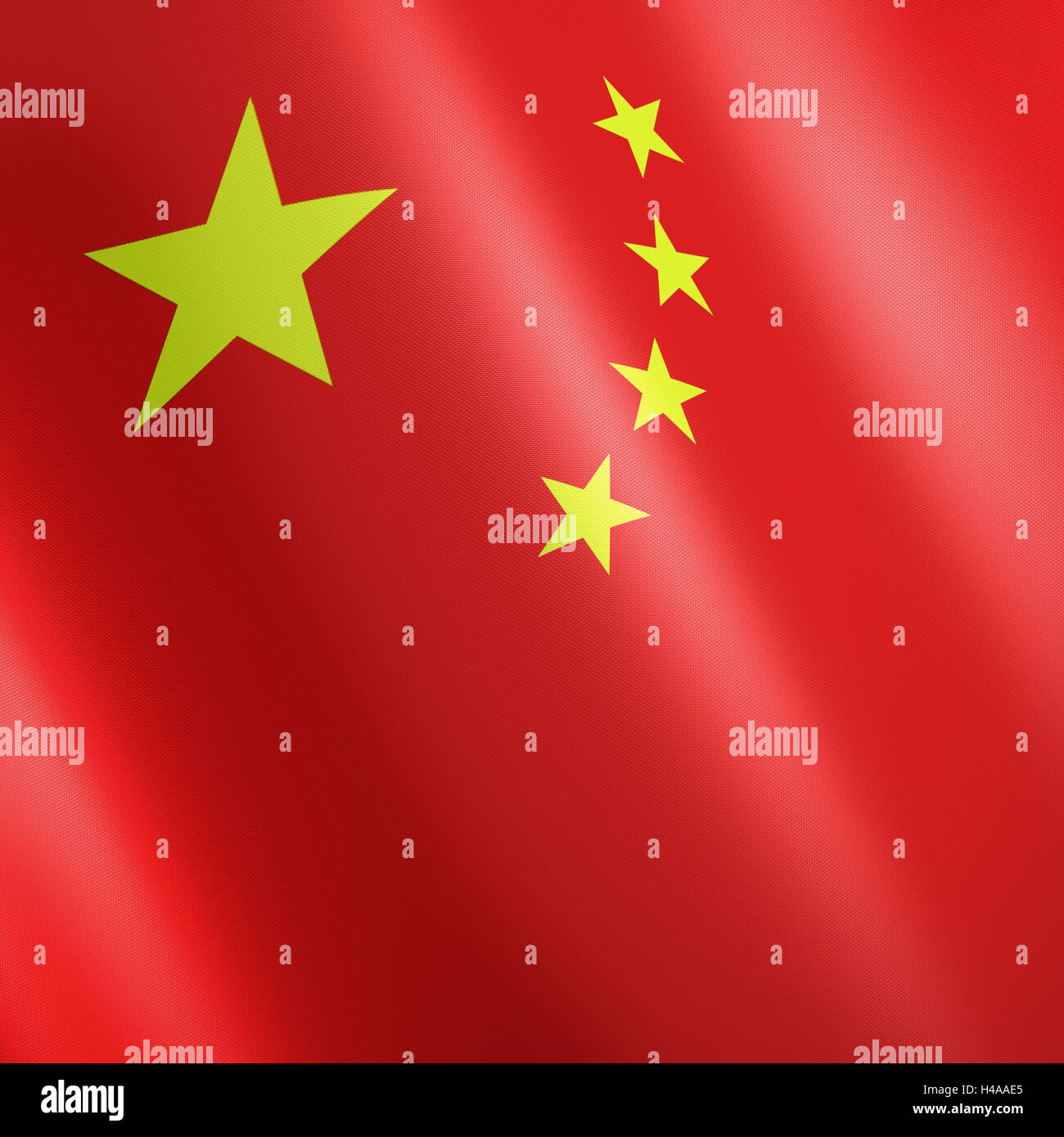 Flag the People's Republic China, - Stock Image