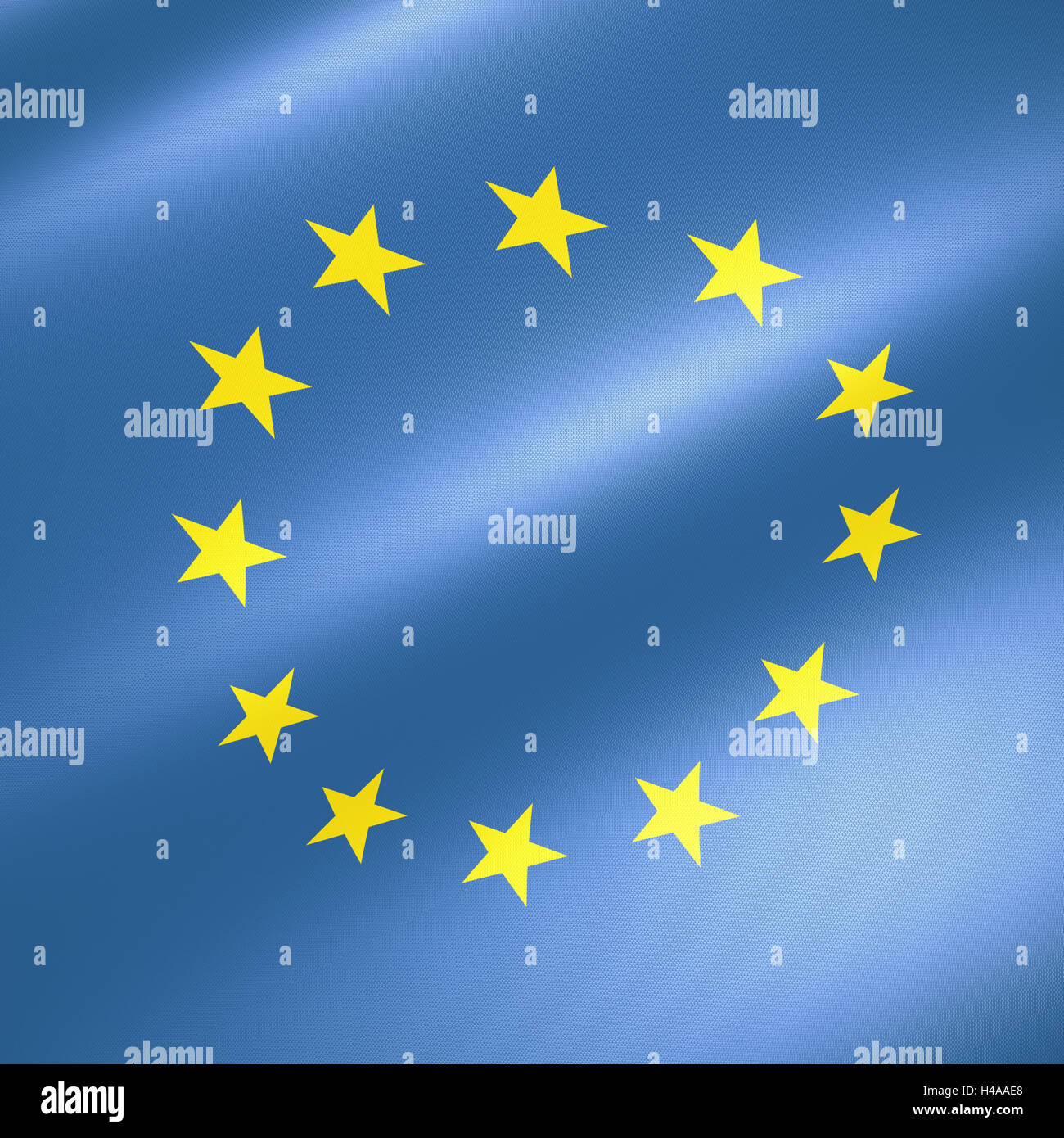 Flag the European Union, - Stock Image