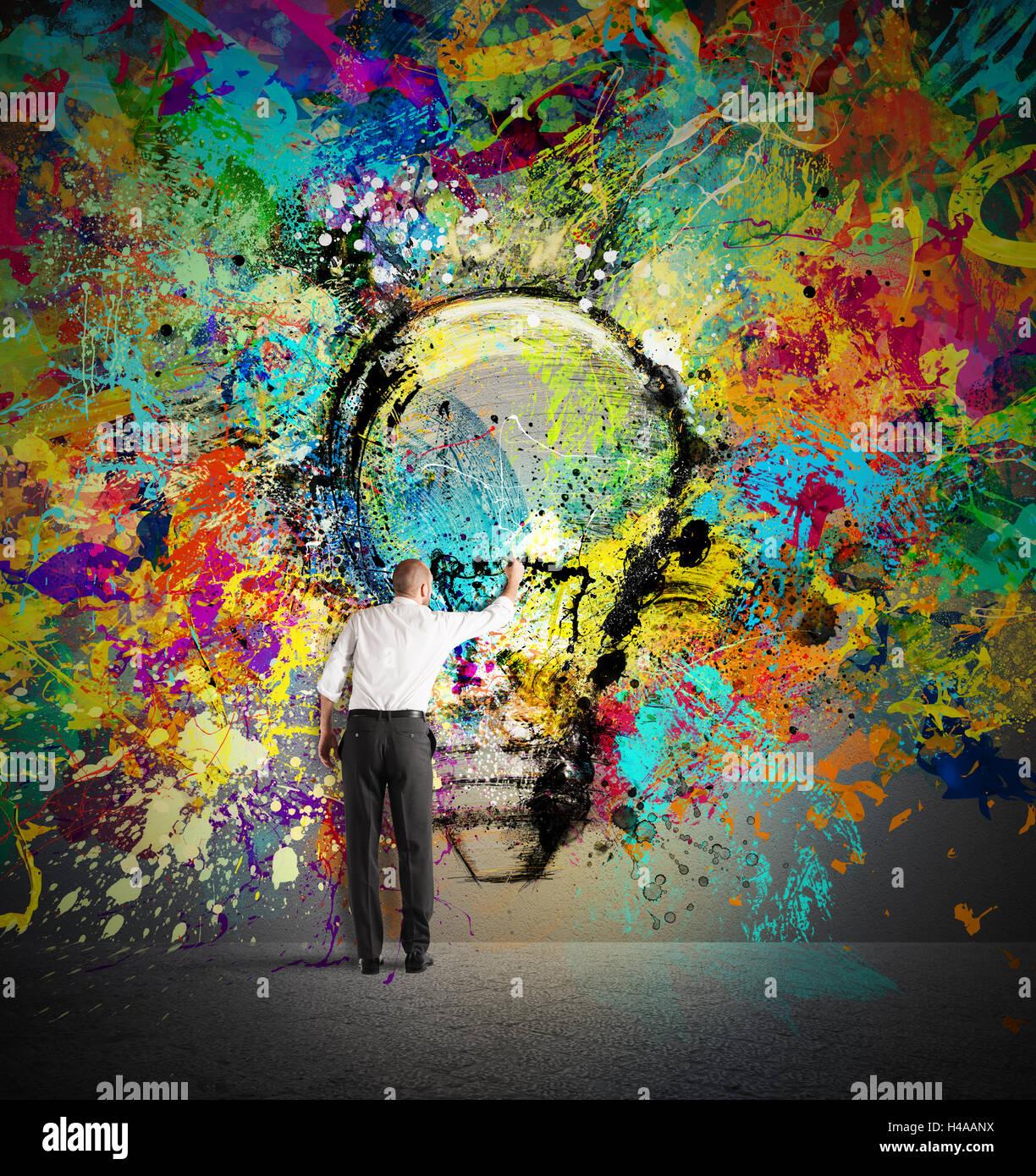 Paint a creative idea - Stock Image